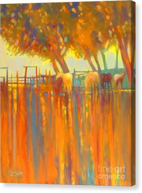 Morning Shadows Canvas Print by Kip Decker