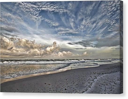 Morning Sky At The Beach Canvas Print