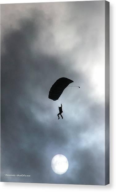 Morning Skydive Canvas Print