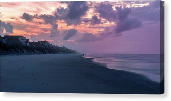 Morning Stroll On The Beach Canvas Print