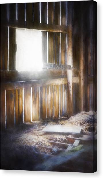 Bases Canvas Print - Morning Sun In The Barn by Scott Norris