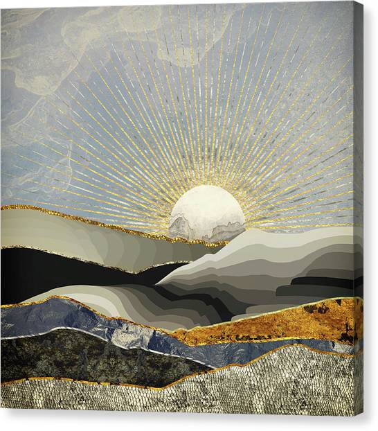 Landscape Canvas Print - Morning Sun by Katherine Smit