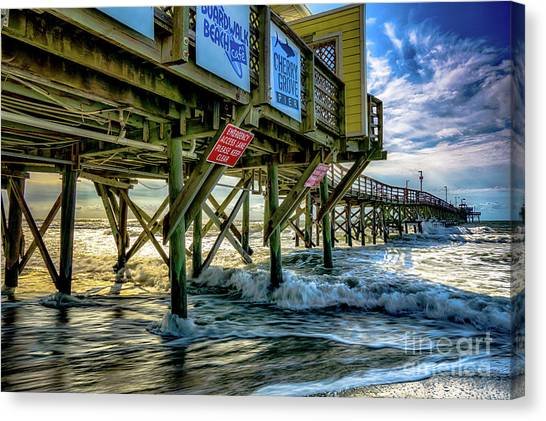 Morning Sun Under The Pier Canvas Print