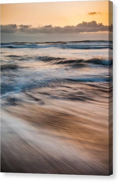 Black Sand Canvas Print - Morning Surf by Thorsten Scheuermann
