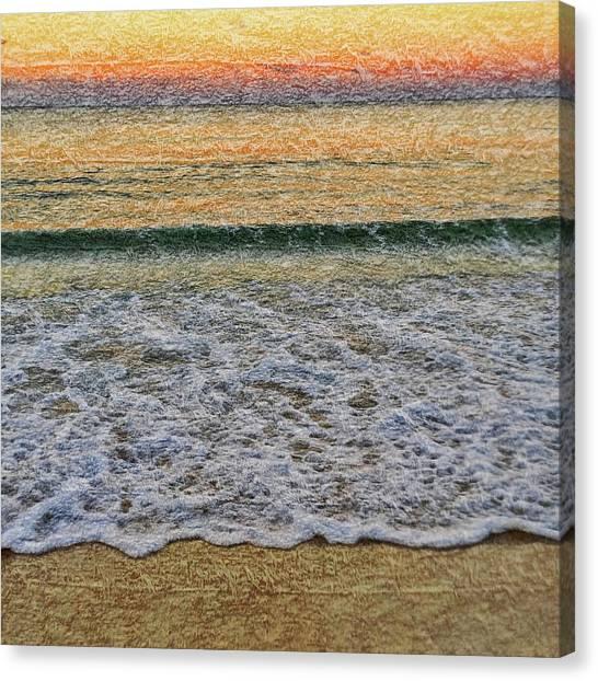 Australian Beach Canvas Print - Morning Textures by Az Jackson