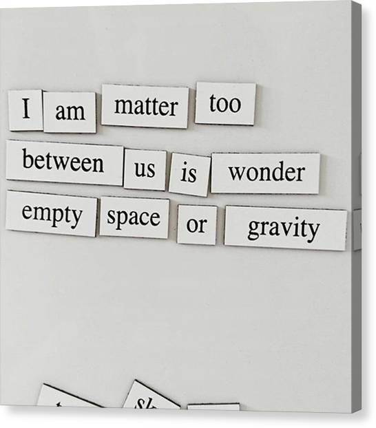Sciencefiction Canvas Print - Morning Thoughts. by Maria Dorothea Schrattenholz