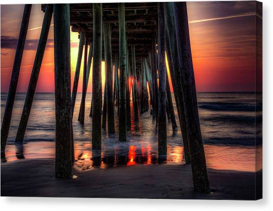 Morning Under The Pier Canvas Print