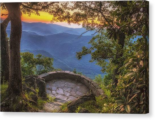 Blue Ridge Parkway Canvas Print - Morning View by Andrew Soundarajan