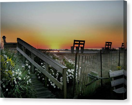 Beach Sunrises Canvas Print - Morning View  by Skip Willits