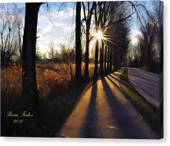 Morning Walk Canvas Print by Brian Fisher