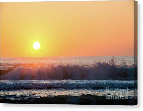 Morning Waves Canvas Print