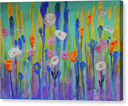 Morning Wildflowers Canvas Print