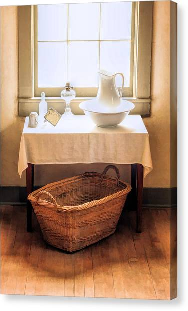 Wash Basins Canvas Print - Morning Window At Old World Wisconsin by Christopher Arndt