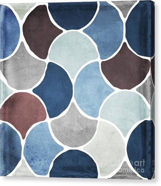 Islamic Art Canvas Print - Moroccan Blues  by Mindy Sommers