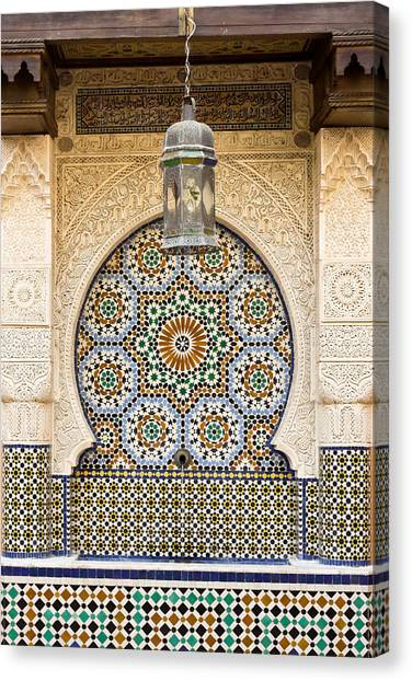 Morocco Canvas Print - Moroccan Fountain by Tom Gowanlock