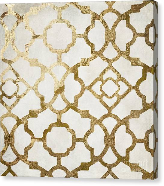 Pattern Canvas Print - Moroccan Gold I by Mindy Sommers