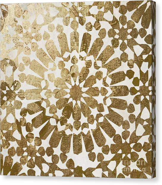 Pattern Canvas Print - Moroccan Gold II by Mindy Sommers