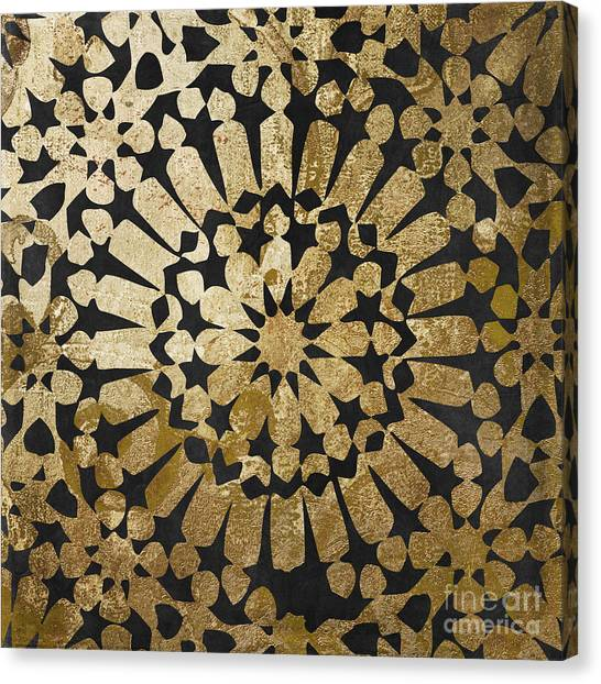 Gold Canvas Print - Moroccan Gold Iv by Mindy Sommers