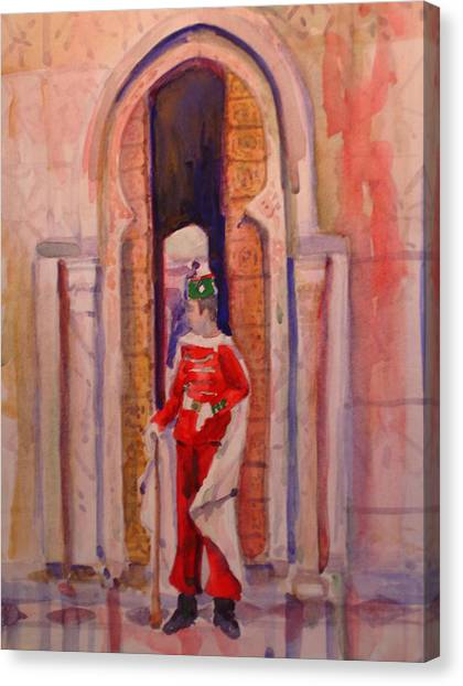Moroccan Soldier Canvas Print by Joyce Kanyuk
