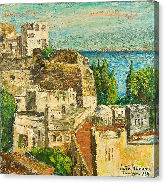 Morocco Palette Knife In Oil By Victor Herman Canvas Print by Joni Herman