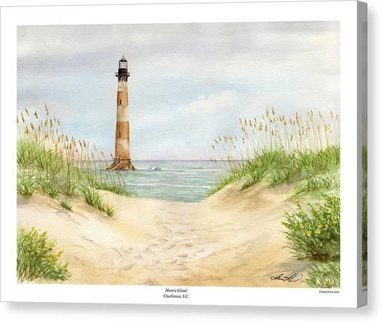 Morris Island Light House Canvas Print by Lane Owen