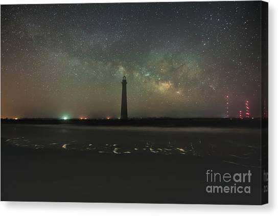 Morris Island Light House Milky Way Canvas Print