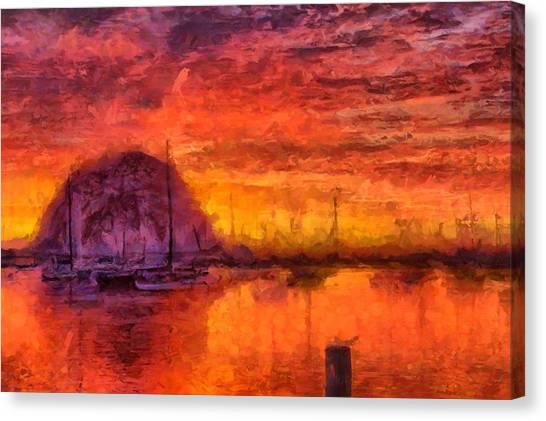 Morro Bay Marina Canvas Print