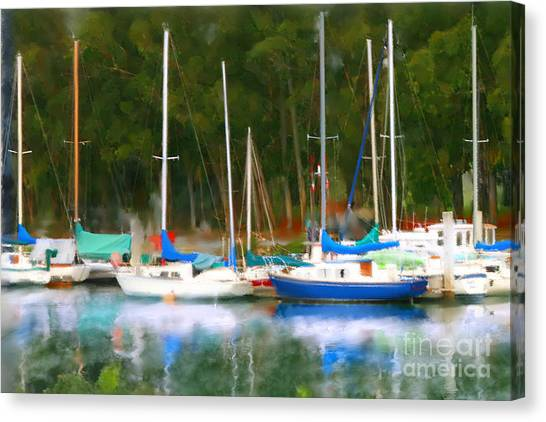 Morro Bay Sail Boats Canvas Print
