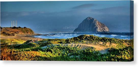 Morro Rock And Beach Canvas Print