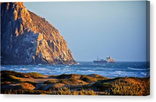 Fishing Trawler At Morro Rock Canvas Print