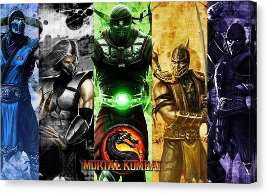 Mortal Kombat Canvas Print - Mortal Kombat by Barbara Elvins