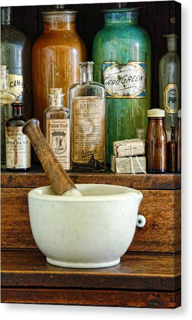 Mortar And Pestle Canvas Print