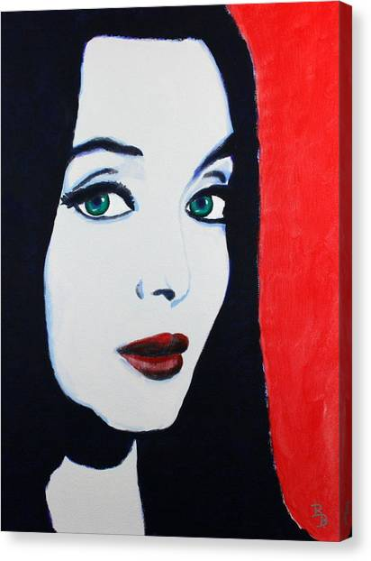 Morticia Addams Canvas Print