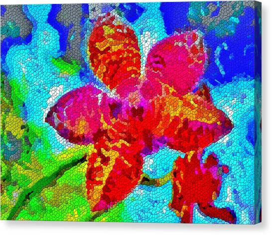 Mosaic Orchid Canvas Print