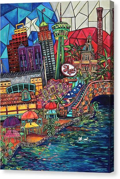 Mosaic River Canvas Print