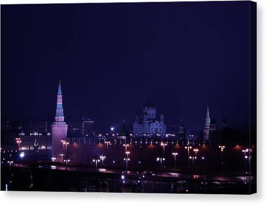 Moscow Skyline Canvas Print - Moscow Kremlin by Margarita Buslaeva