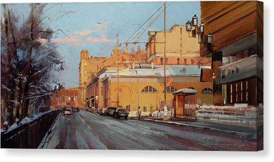 Moscow Canvas Print - Moscow March Came Into Law. Tverskoy Boulevard by Alexey Shalaev
