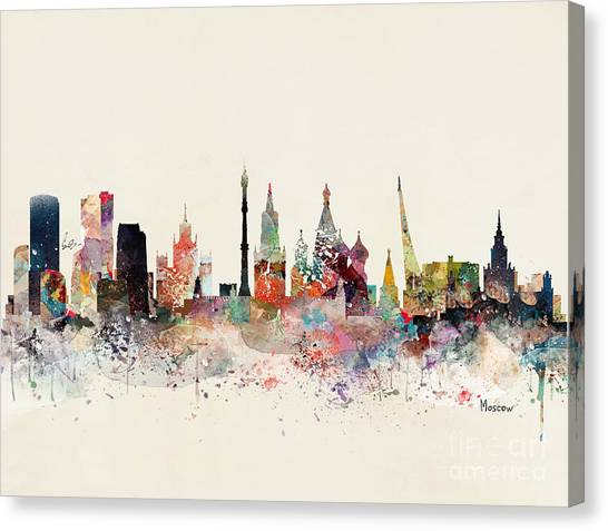 Moscow Skyline Canvas Print - Moscow Russia Skyline by Bri Buckley