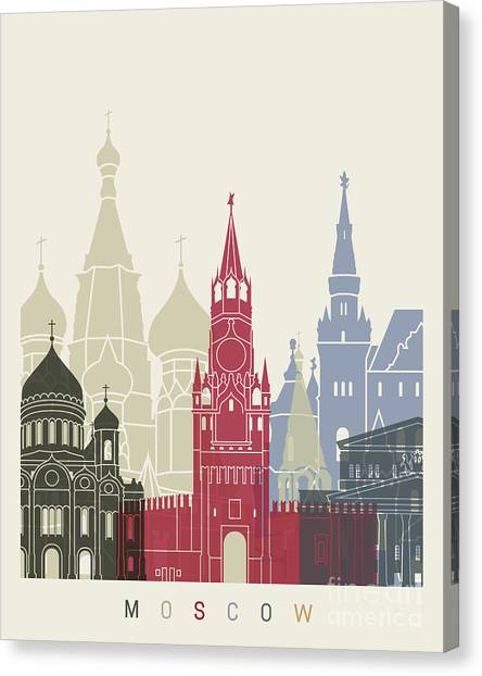 Moscow Skyline Canvas Print - Moscow Skyline Poster by Pablo Romero