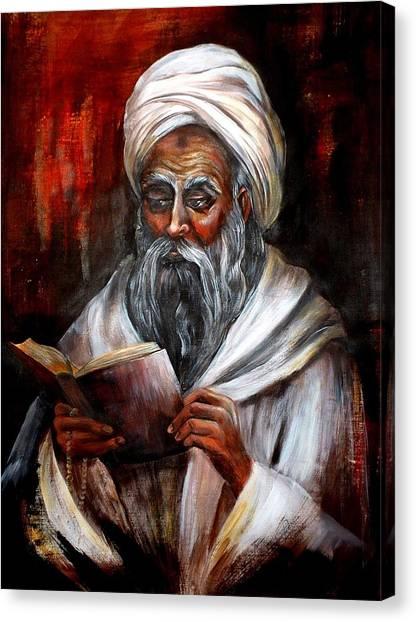 Moslem Man With Koran Canvas Print