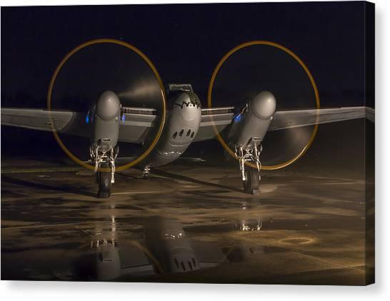 Mosquito Night Engine Run Canvas Print
