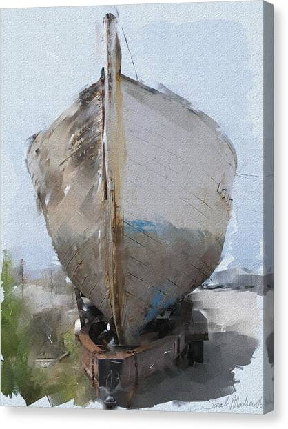 Boat Canvas Print - Moss Landing Boat by Sarah Madsen