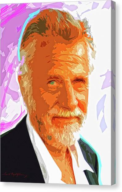 Most Interesting Man Canvas Print by David Lloyd Glover