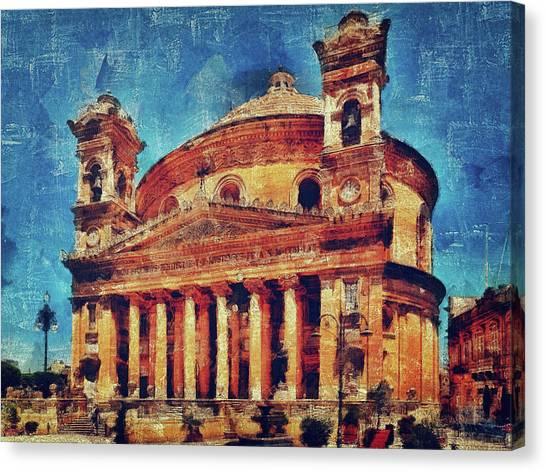 Mosta Church Canvas Print