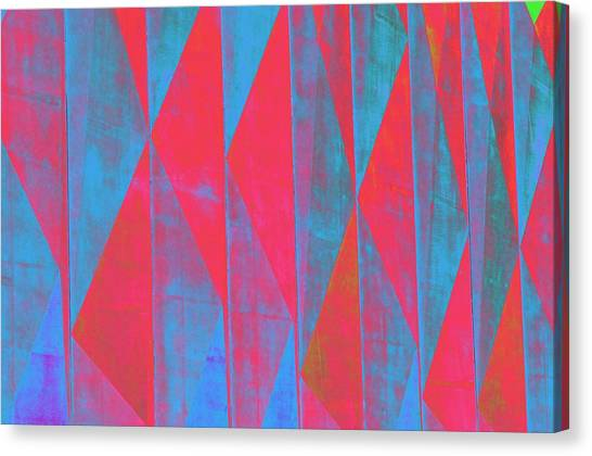 Mostly Blues And Reds Canvas Print