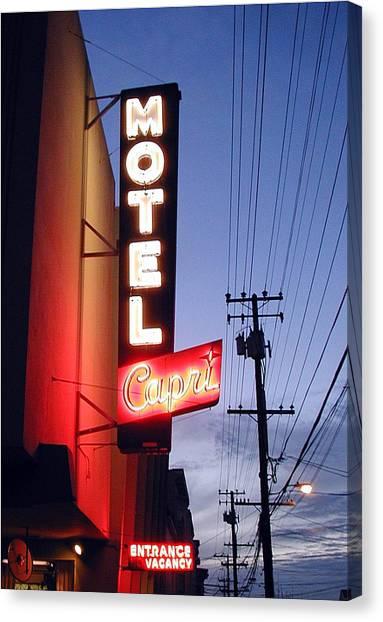 Motel Capri Canvas Print by Mark Stevenson