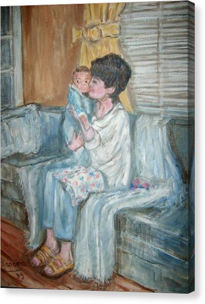 Mother And Child R Canvas Print by Joseph Sandora Jr