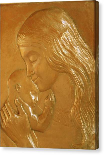 Mother And Child Relief  Canvas Print