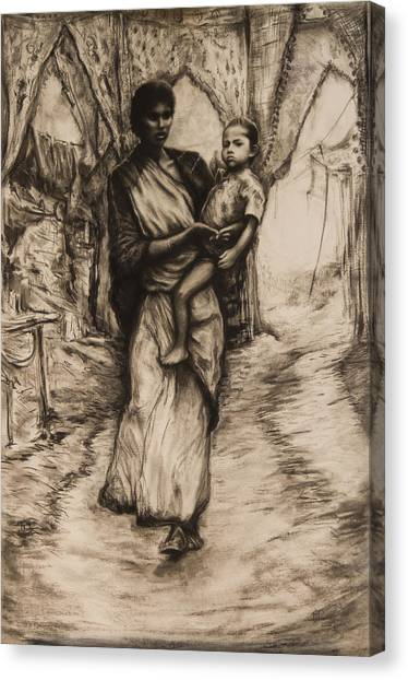 Mother And Child Canvas Print by Tim Thorpe
