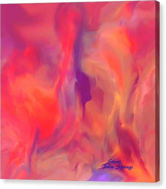 Mother And Daughter Abstract Canvas Print